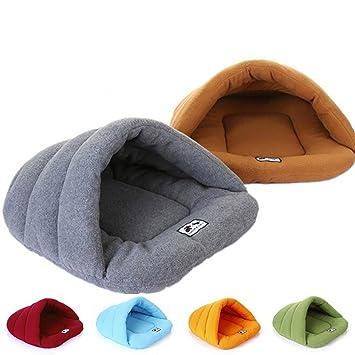 Cama suave para mascota / gato, 1 unidad, mullida y cálida, con forma de saco de dormir, para animal pequeño o cachorro: Amazon.es: Productos para mascotas