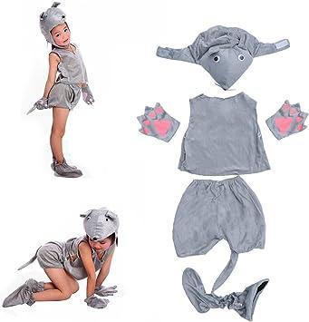 Amosfun Disfraz de Disfraz de ratón Gris para niños Disfraz de ...