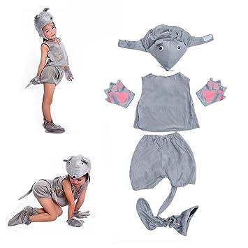 Amosfun Disfraz de Disfraz de ratón Gris para niños Disfraz de Disfraces de  Halloween Disfraz de 15700f811e71