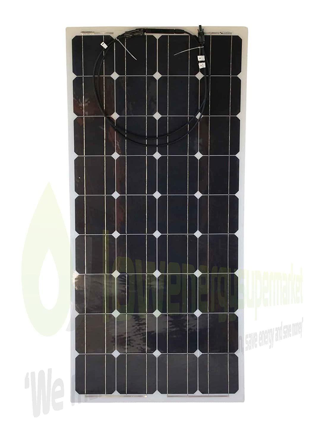 100W Flexible Solar Panel Premium Quality PV Photo-voltaic Panel. Ideal for Caravans, Boats, Gardens, Camping & Motorhomes. Lowenergie