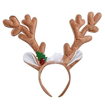 f254900caf622 Christmas Reindeer Antlers Headbands with Ears Adults   Kids Head Band  Christmas Reindeer Hats Reindeers Deer