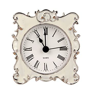 small bathroom clocks. NIKKY HOME Pewter Pretty Small and Cute Table Clock with Quartz Analog  Crystal Rhinestone 3 Inch Amazon com