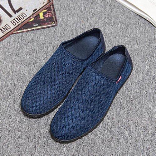HLHN Blue Sandali con Zeppa Uomo Dark UF6HUwqS