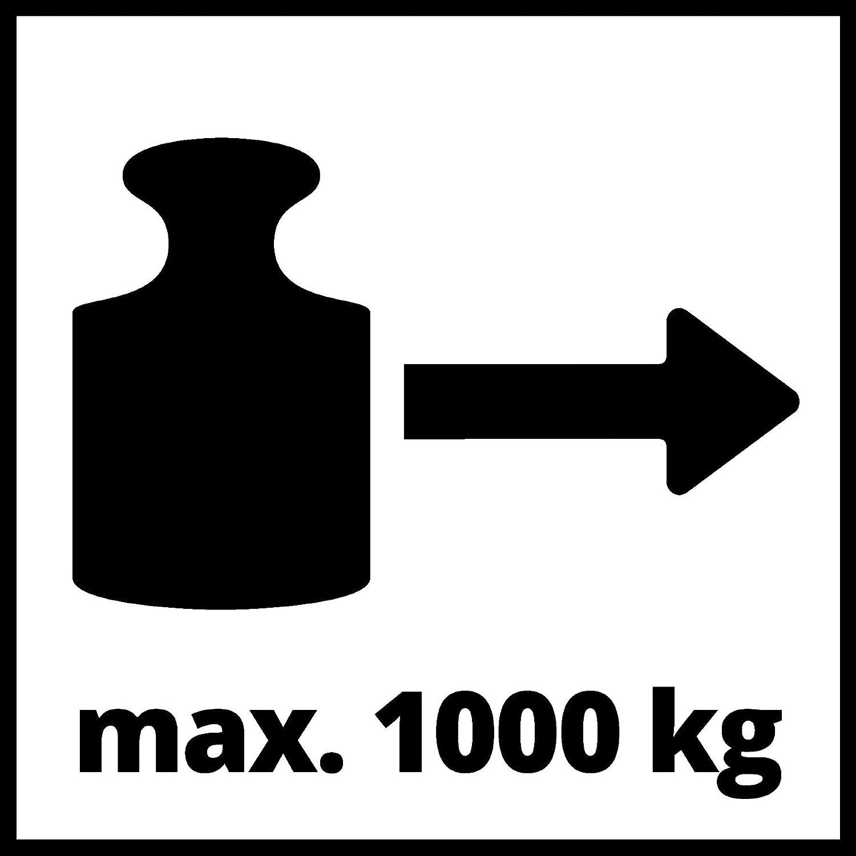 Einhell Palan /à levier TC-LW 1000 Capacit/é de traction max : 1000kg - long. max. dutilisation : 1,2m - c/âble : diam/ètre 4,8mm, long. 2,2m - poulie de mouflage