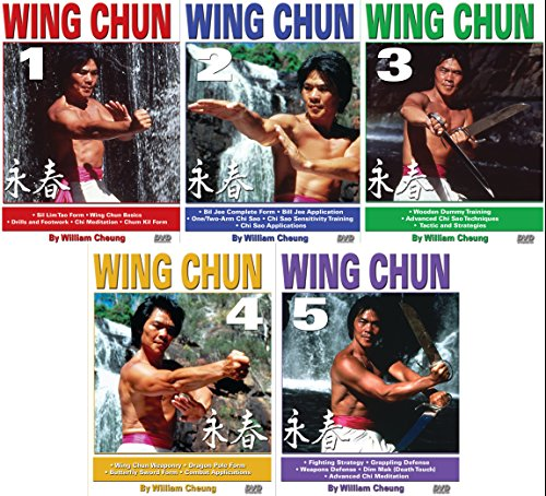 5 DVD SET Grandmaster William Cheung Wing Chun - Sil Lim, Bil Jee, Dim Mak by Empire Publications