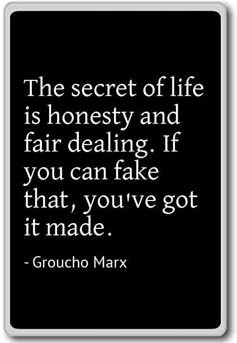 Amazon.com: The secret of life is honesty and fair dealing ...