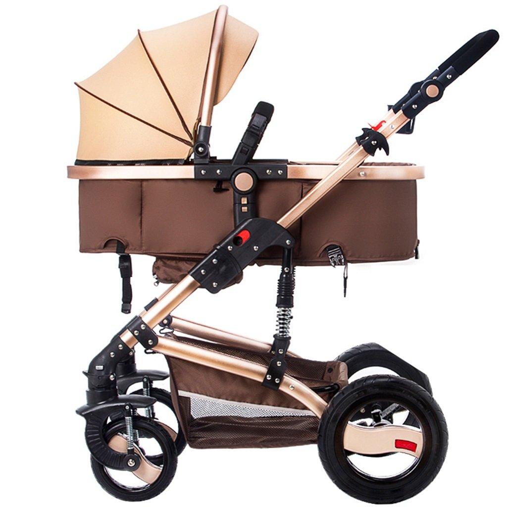 HAIZHEN マウンテンバイク Tipo de carrito: Carro de paisaje alto Tamaño plegable: 107 * 39 cm Tamaño del embalaje: 48 * 29 * 85cm Asiento lejos de la altura del suelo: 60cm Profundidad del asiento: 21 cm Altura del asiento: 58cm Estilo: Asiento de bebé profesional, cuna para dormir independiente, bebé más seguro. 新生児 B07DL73DZ1 5 5