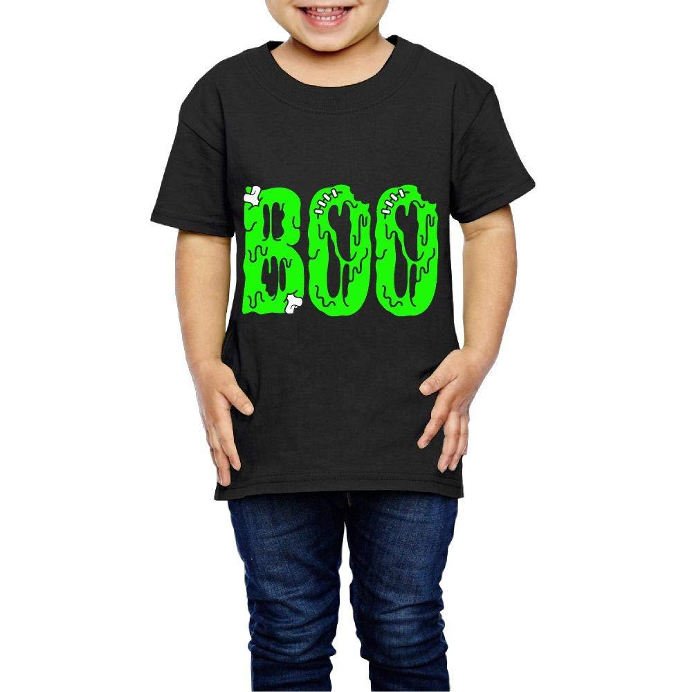 Creepy Halloween 2-6 Years Old Boys /& Girls Short Sleeve Tee Shirts XYMYFC-E Boo