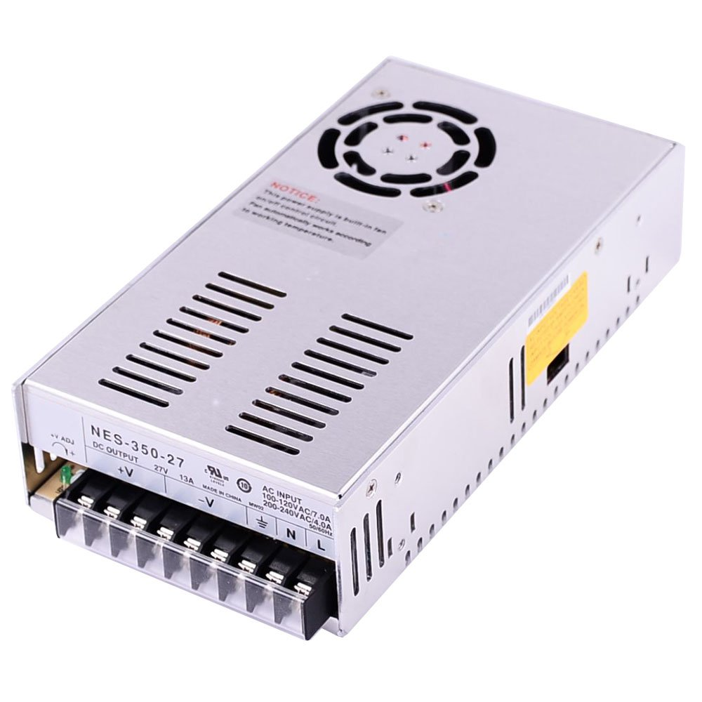 New Switch Power Supply 27V 13A 350W 215x115x50mm for Mean Well MW MeanWell NES-350-27 by Mean Well