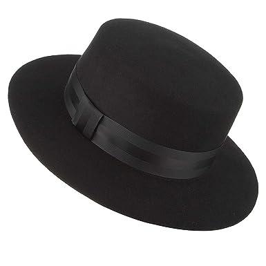 47bb4bd8cd8 DOSOMI Autumn Winter Wide Brim Fedoras Men Jazz Hat Flat Brim Felt Cap Wool  Fashion Women Jewish Hat