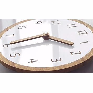 Wanduhr Minimalistische Massivholz Uhr Kleine Frische Bambus Und