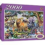 MasterPieces Signature After the Rains Safari Scene Jigsaw Puzzle, 2000-Piece