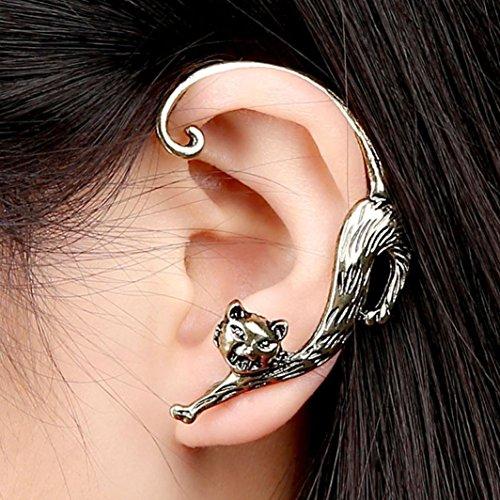 Yoyorule Fashion Gothic Punk Temptation Cat Bite Ear Cuff Wrap Clip ()