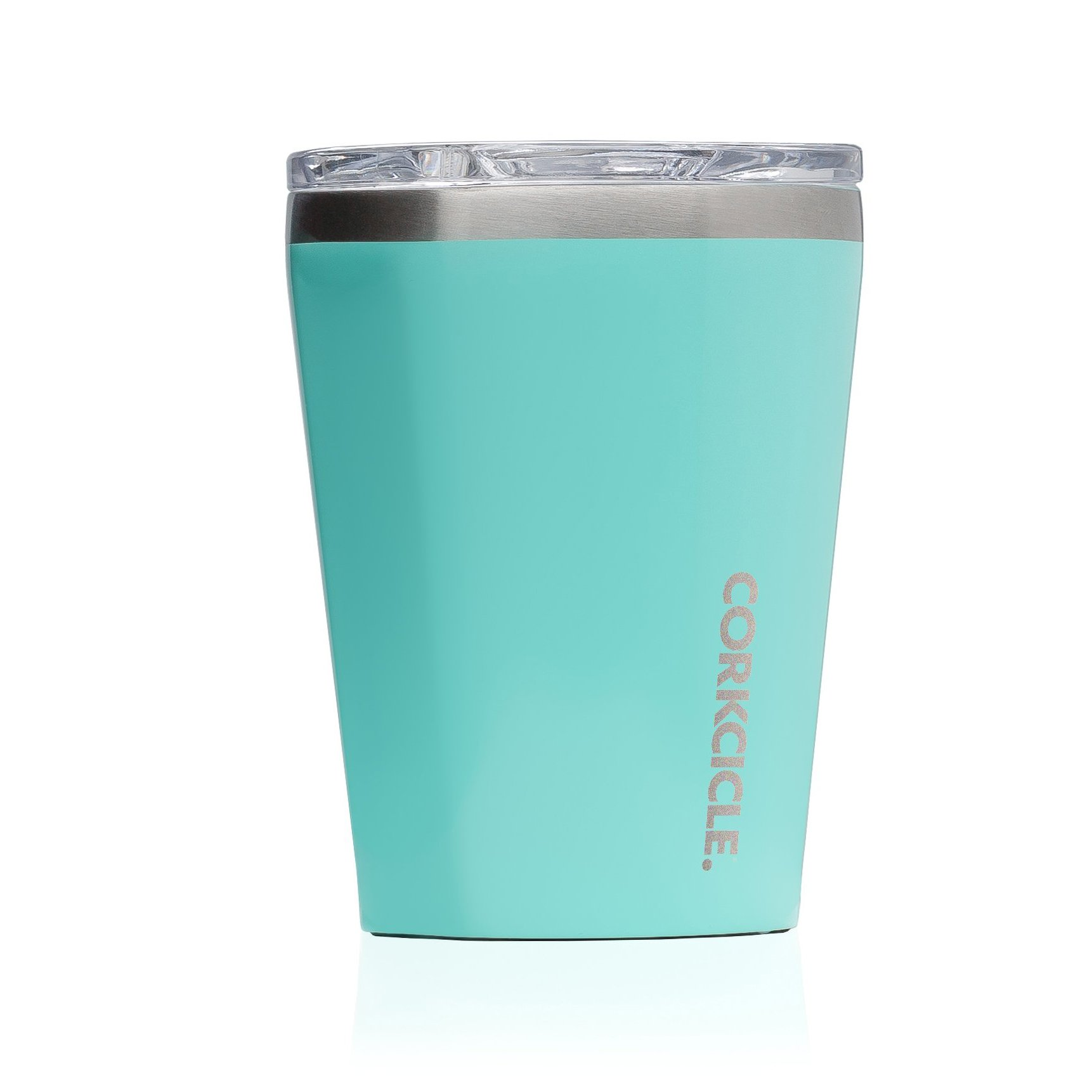 Corkcicle 12 oz Triple-Insulated Tumbler (Perfect for Coffee - Cocktails - Tea) - Gloss Turquoise