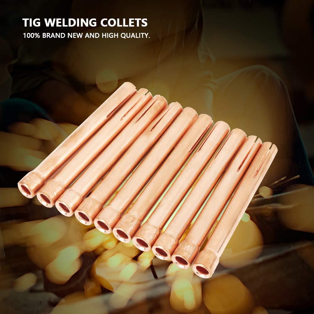 10Pcs Soudage Torche Pinces de Soudage 10N24 2.4mm pour Chalumeau Tig WP-17//18 //26 S/éries