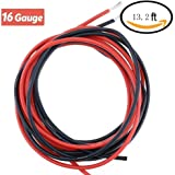 16 Gauge Silicone Wire High Temperature Resistant Soft and Flexible 16 AWG Silicone Wire(6.6 ft Black And 6.6 ft Red)