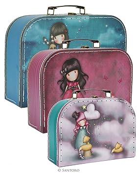 Gorjuss Hush Little Bunny, Ladybird & The Dreamer Juego de 3 maletas tipo