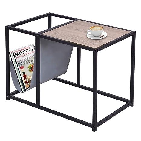 Amazon End Table With Magazine Rackbestcomfort Metal Frame
