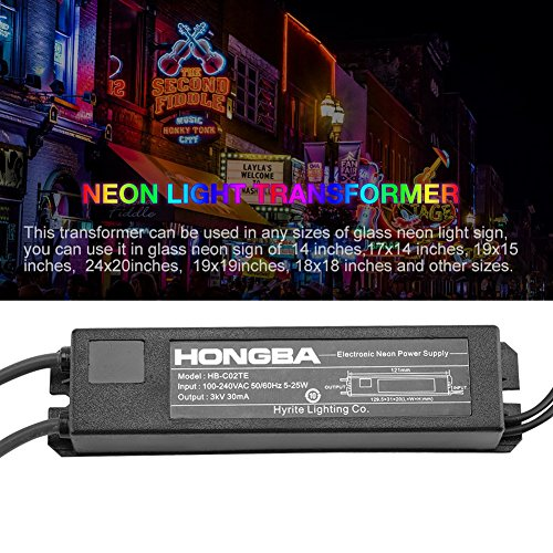 HB-C02TE 3KV 30mA 5-25W Power Supply for Glass Neon Sign Electronic Neon Light Transformer by Wal front (Image #4)