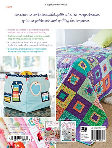 Beginner's Guide to Quilting: 16 Projects to Learn to Quilt ... : beginners guide to quilting - Adamdwight.com