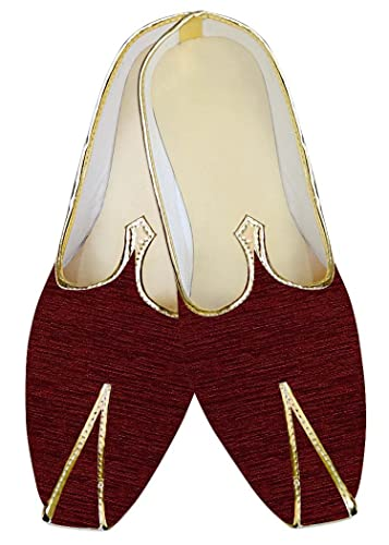 Mens Wine Wedding Shoes Rajasthani MJ013950