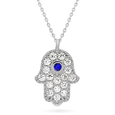 white chain hamsa pendant a gold and