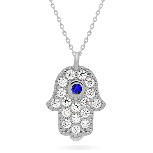 Amazon 925 sterling silver small hamsa necklace silver plated 925 sterling silver small hamsa necklace silver plated hand of fatima necklace silver hamsa hand mozeypictures Image collections