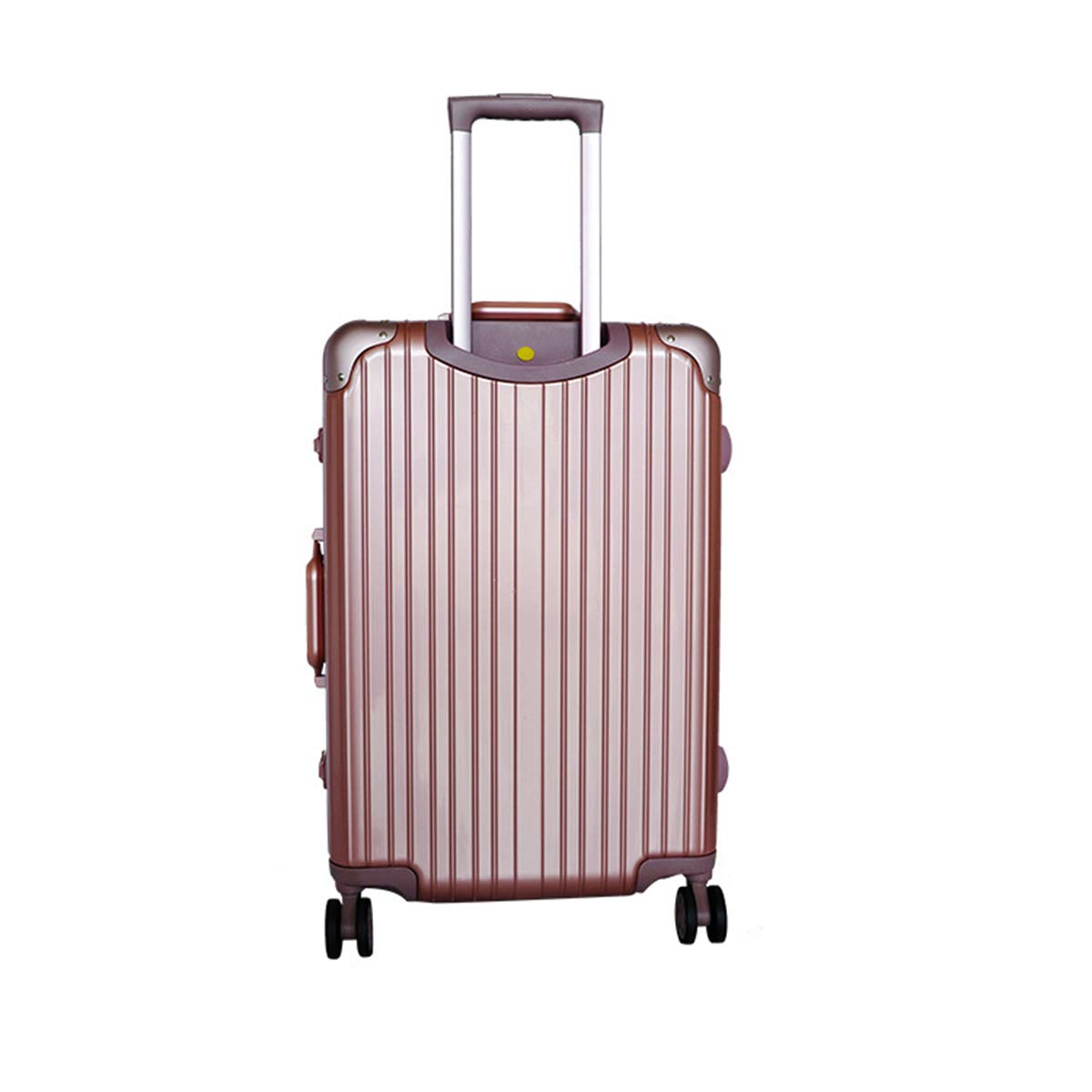 インテリジェント盗難防止荷物トロリートロリーユニバーサルホイールスーツケースアルミフレームレトロ直角ロックボックス大容量搭乗ボックス,24inch,Rose B07QJ1KD13 24inch Rose