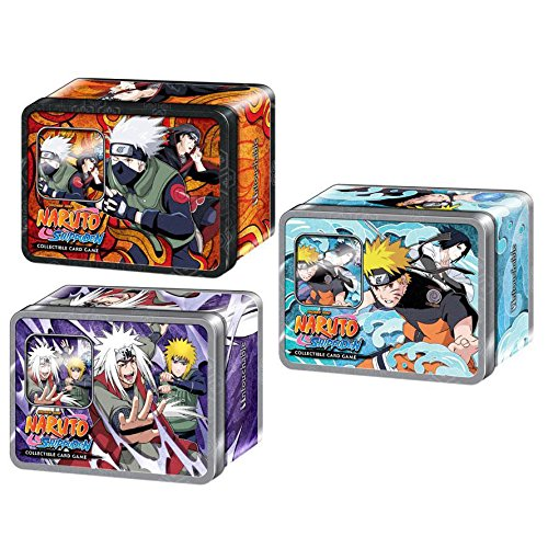 (Naruto Untouchable TCG Collector Tin Set - 3 Tins and Include Rare Cards, Packs, and Foils)