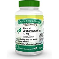 Natural Astaxanthin 12mg (Organic as AstaZine, Non-GMO, Soy-Free & Gluten Free) 30 Softgels