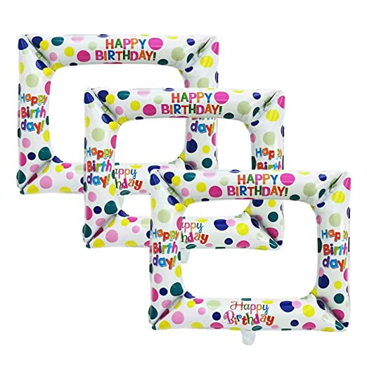 Happyyami 3pcs Marco de Imagen Inflable cumpleaños Aluminio ...