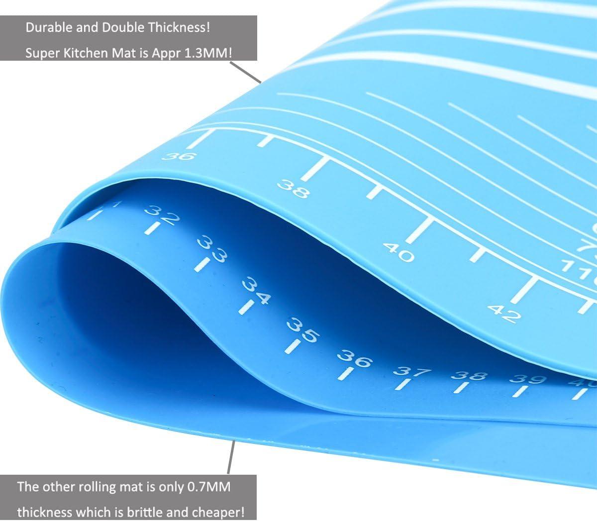 Tapete de Silicona Extra Grande para pastelería con Medidas 65×45 ...