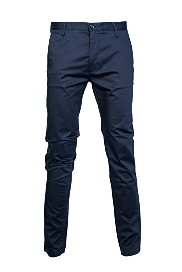 Hugo Boss Navy Blue Smart Slim Fit Chinos 50330718: Amazon.co.uk: Clothing