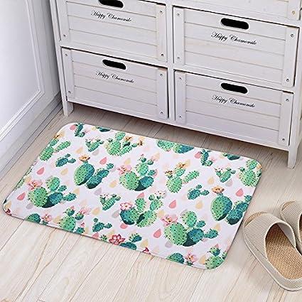 Amazon.com : Doormat Cute Cactus Print Bedroom Mats Kitchen And Living Room/Bedroom  Mats Floor Mat Rug Indoor (40cm60cm, C) : Garden U0026 Outdoor