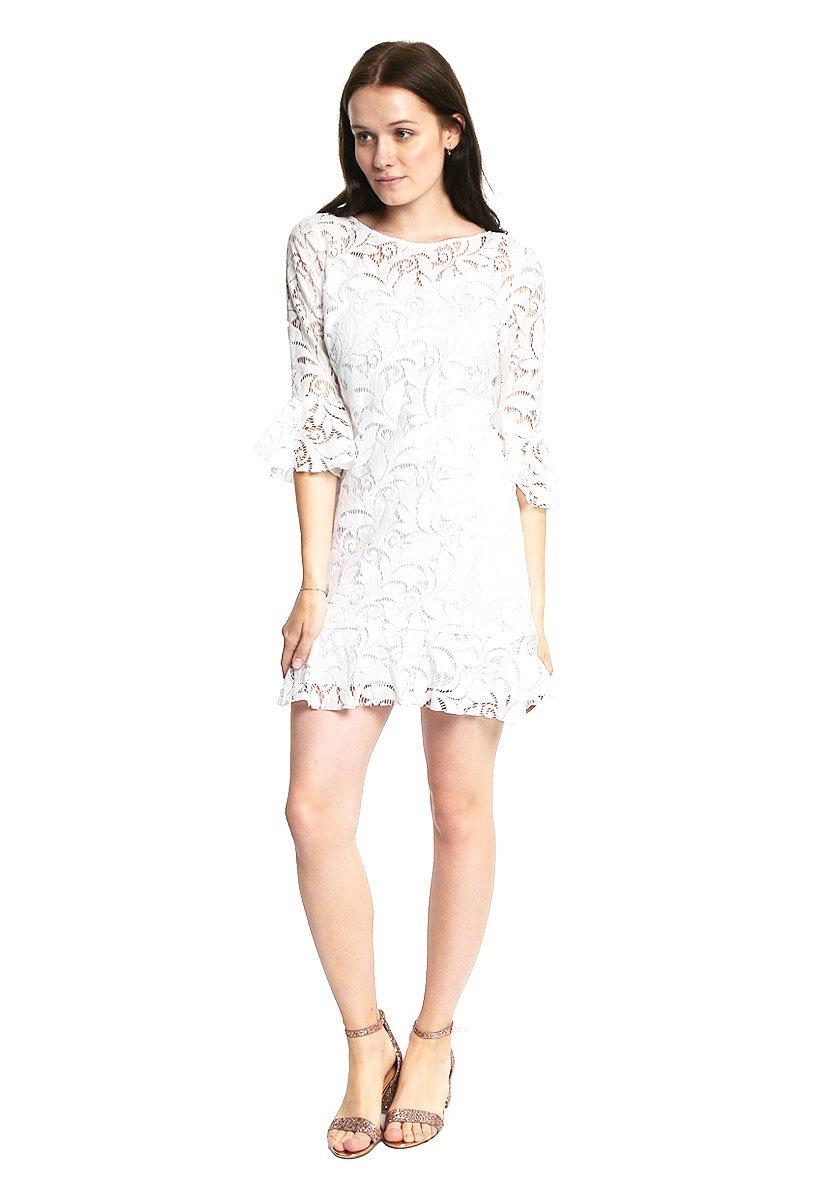 063caf0df720 LOB Vestido Blanco Encaje Floral Vestido para Mujer Blanco Talla 2 ...