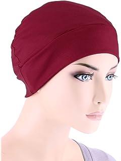 e55072b0385 Amazon.com  Night Chemo Hat Sleeping Cap - Grey Pink 3 Packs Slouchy ...
