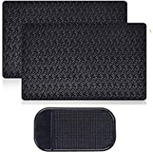 "Sticky Car Dashboard Pads Premium Anti-Slip Gel, MoRange 2 Packs Reusable Non-Slip Mounting Mats for Cell Phone Sunglasses Keys (11"" x 7"")"