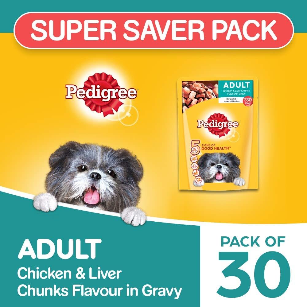 Pedigree Adult Wet Diwali Dog Food Gift, Chicken And Liver