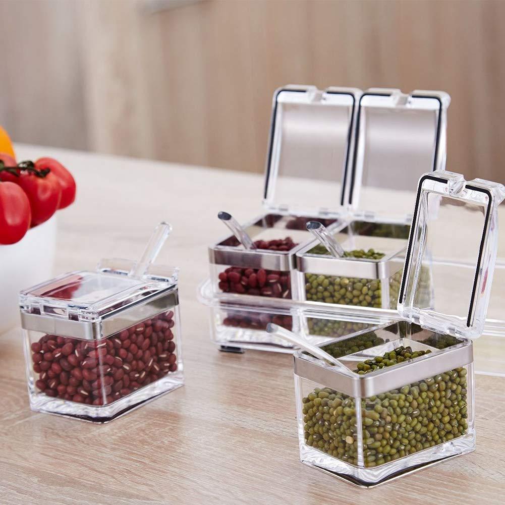 Scottpown Cocina Refrigerador Especias Almacenamiento Almuerzo Contenedor Caja de comida fresca de mantenimiento Organizadores de cajones