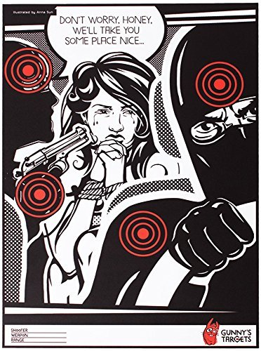 Cibles de tir en papier - 25 pièces plus 1 gratuit Gunny' s targets
