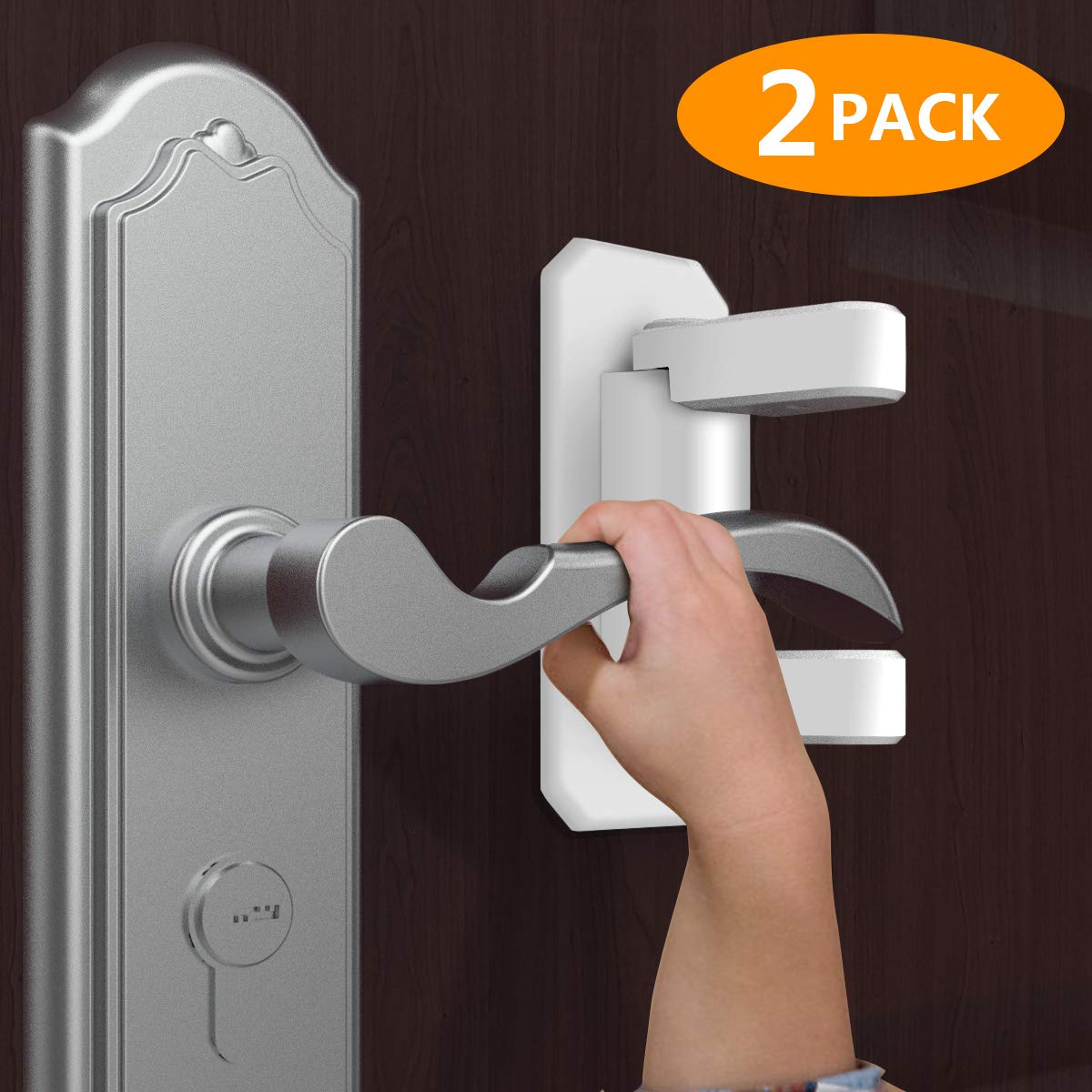 Child & Baby Safety Lock, Child Proof Doors & Handles with 3M Adhesive - 2 Pack
