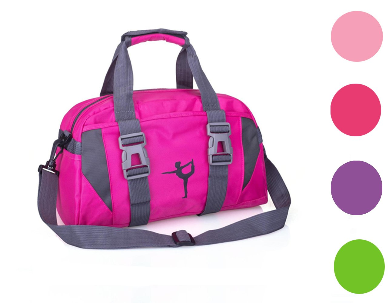 2017snow Small/Large Dance Duffle Bag for Girls Sport Gym Bags for Women Yoga Bag (Green)