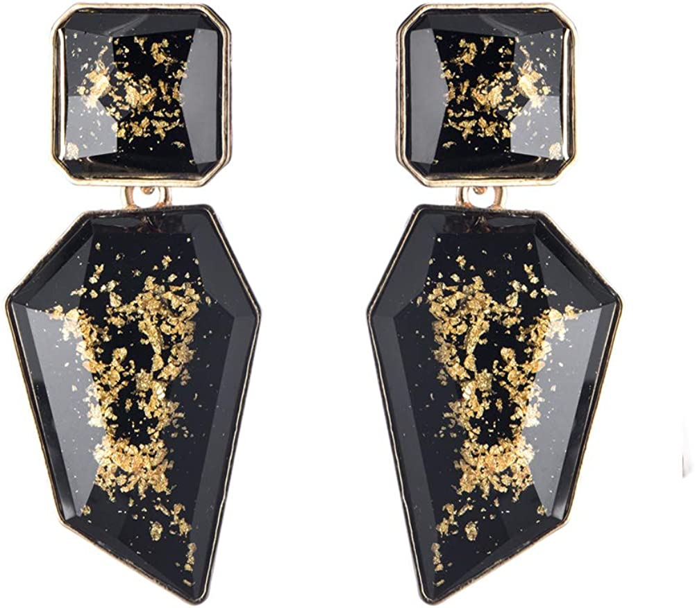 Acrylic Geometric Statement Drop Earrings KELMALL COLLECTION