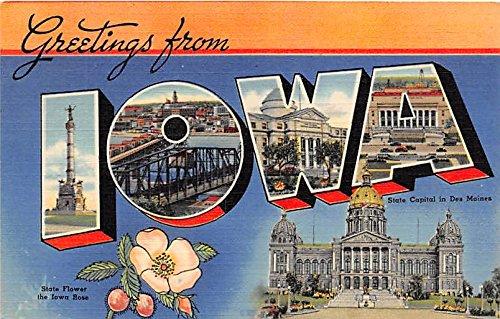 Iowa, IA, USA Large Letter Postcard