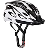 GIORO Adult Bike Helmet for Men Women Bicycle Helmets CPSC Certified Lightweight for Road Urban Mountain BMX Cycling Safety Protection with Removable Visor & Adjustable Reflective Strap