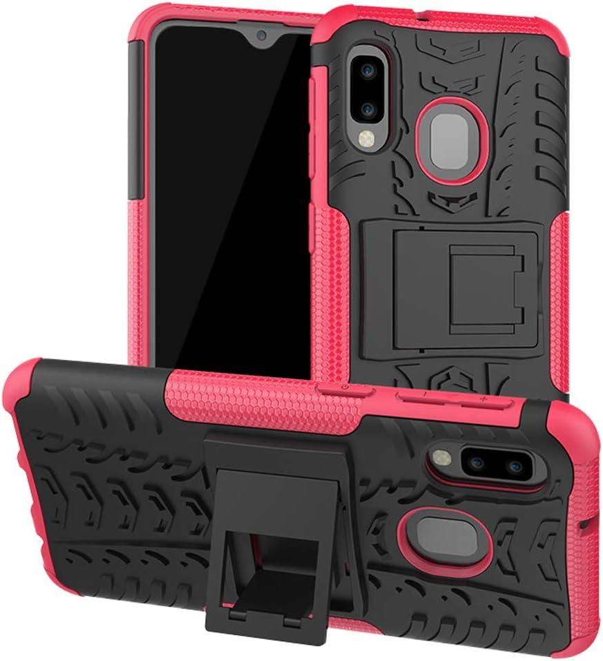SKTGSLAMY Galaxy A10E Case, Samsung A10E Case, [Shockproof] Tough Rugged Dual Layer Protective Case Hybrid Kickstand Cover for Samsung Galaxy A10E (Pink)