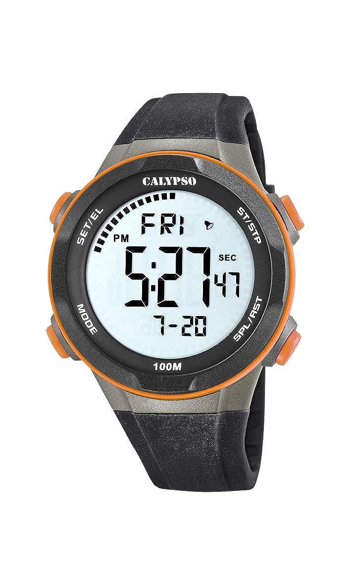 Calypso Watches Reloj Digital para Hombre de Cuarzo con Correa en Plástico K5780/3