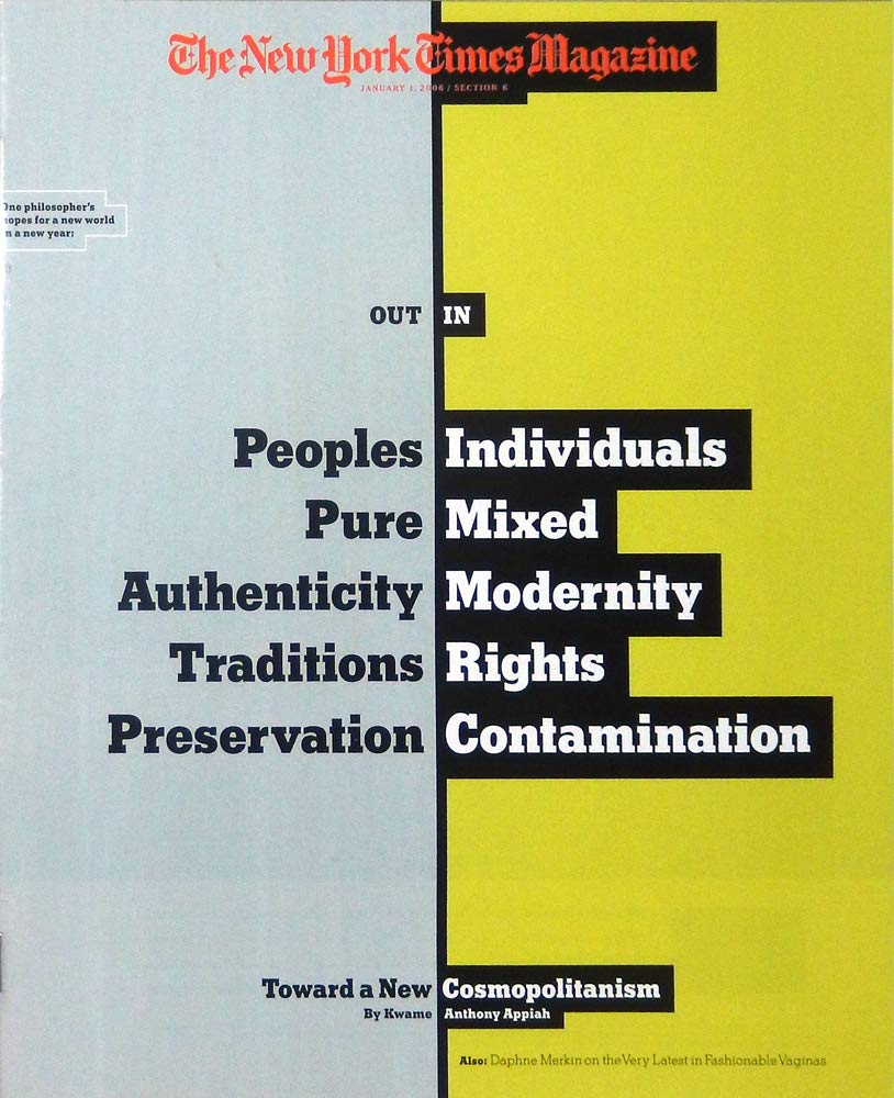 the new york times magazine january 1 2006 toward a new cosmopolitanism
