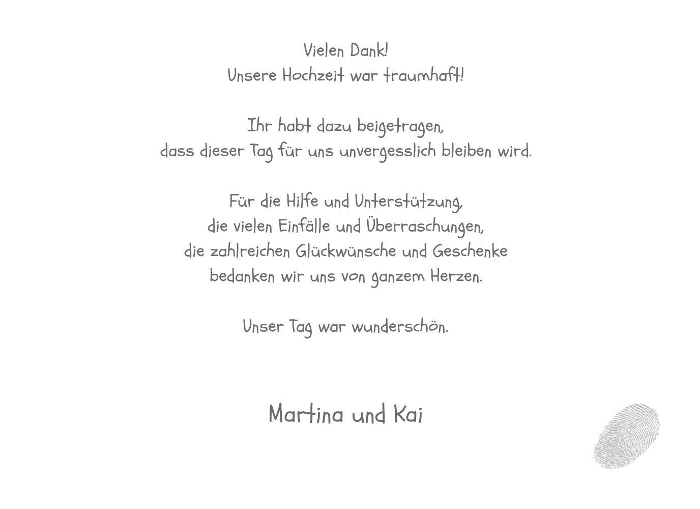 Kartenparadies Danksagung Danksagung Danksagung für Hochzeitsgeschenke Hochzeit Dankeskarte fingerprint, hochwertige Danksagungskarte Hochzeitsglückwünsche inklusive Umschläge   20 Karten - (Format  148x105 mm) Farbe  Grau B01N4QEV93 | Am praktischsten  |  a26d15