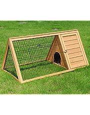 EUGAD Conejera de Exterior Madera Casa para Conejos Cobayas Hámster Mascotas Jaula para Conejo Animales Pequeños